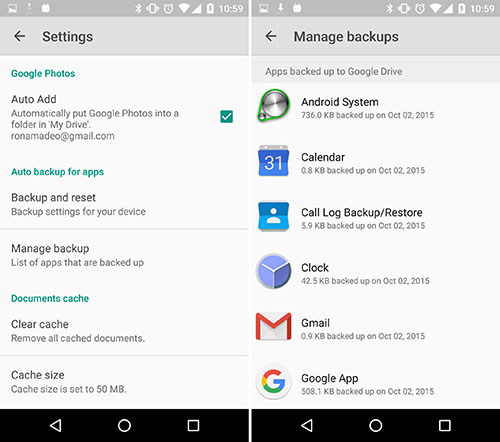 android6 autobackup