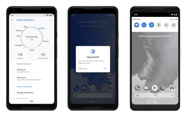 android9 benessere digitale