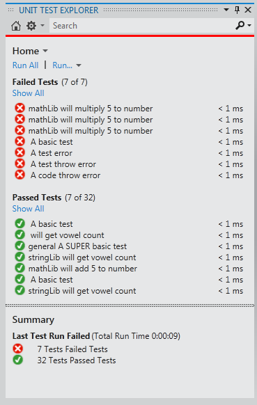 vs2012 unit test