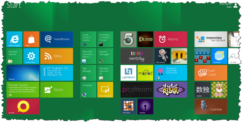 win8 startscreen