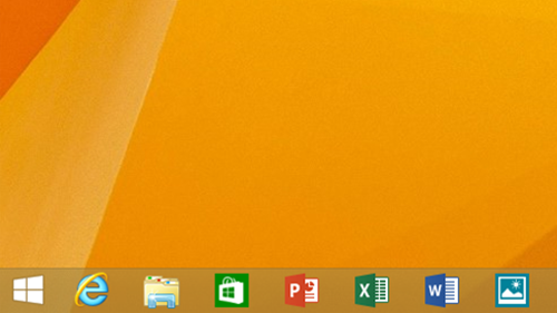 windows 81 modern ui on deskbar