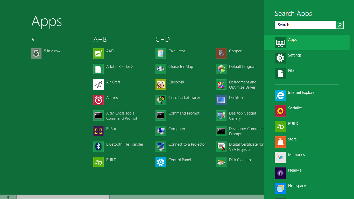 windows8 search