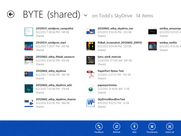 windows8 skydrive