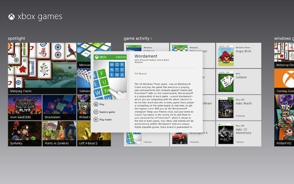 windows8 xbox