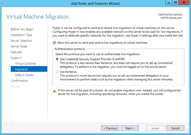 winserver2012 virtualmachinemigration