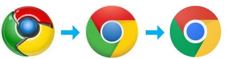 chrome logo evolution