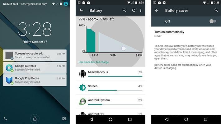 android 5 batteria