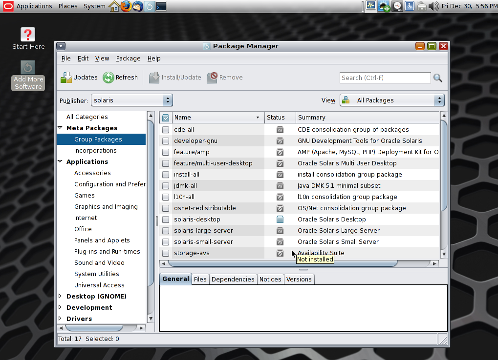 solaris11 package manager
